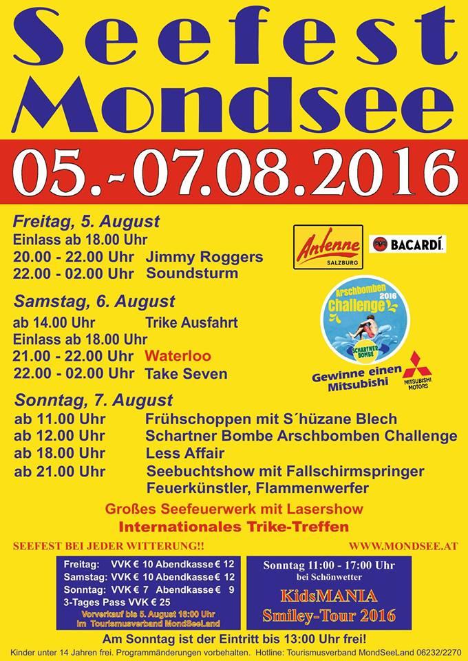 Seefest Mondsee 2016 - Infos