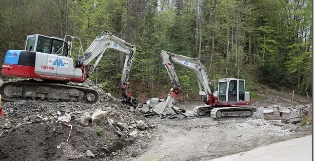 Fotos der Baustelle Hierzenberger Straße / Bereich Zellerache