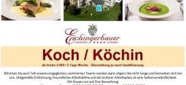 Mondsee-News Jobbörse: Das Landhotel Eichingerbauer sucht einen Koch / eine Köchin