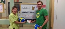 Florian Schnetzer unterstützt Kinder und Familien in der Onkologie Station Linz