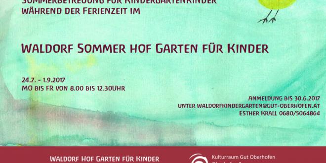 Info: Sommerbetreuung für Kindergartenkinder während der Ferienzeit