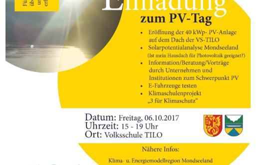 Richtig informieren über Sonnenenergie und wie man sie nutzen kann – PV-Tag am 6.10.2017