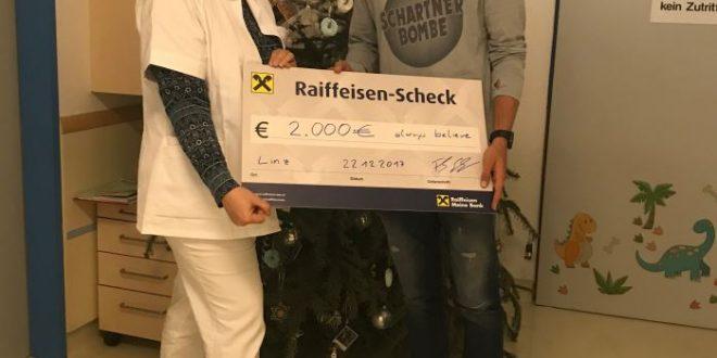 Florian Schnetzer übergab 2.000 Euro an krebskranke Kinder – Always Believe