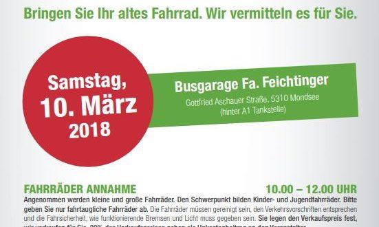 Naturfreunde Fahrrad Basar am 10.03.2018