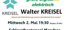 Vortrag Energiezukunft von Walter Kreisel, 2.5.18 in Mondsee