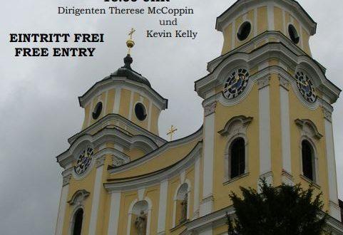 Das Trinity Grammar School Ensemble Australien spielt in der Basilika Mondsee